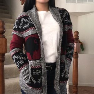 Comfy patterned cardigan